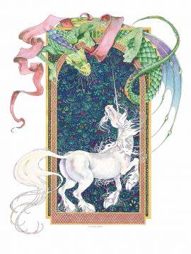 Dragons Summer Wall Art Custom Fine Art Print by Mickie Caspi