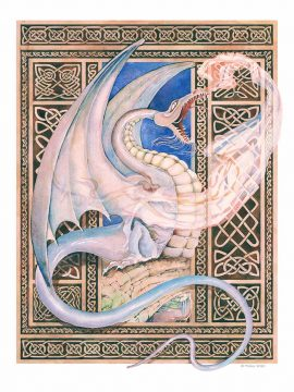 Dragons Fall Wall Art Custom Fine Art Print by Mickie Caspi