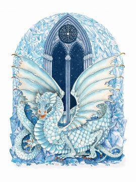 Dragons Winter Wall Art Custom Fine Art Print by Mickie Caspi
