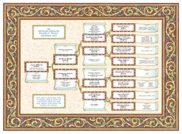Custom Scroll Family Tree New Baby Saddle by Mickie Caspi