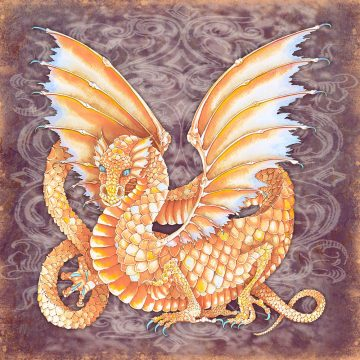 Dragon Energy Wall Art Custom Fine Art Print by Mickie Caspi