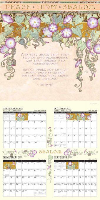 Jewish Art Calendar 2022 by Mickie Caspi September-December 2022