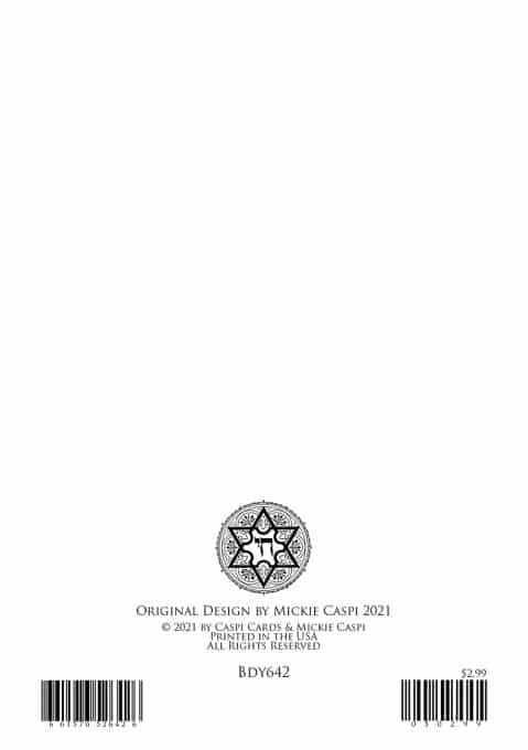 Bdy642 Birthday Greeting Card by Mickie Caspi
