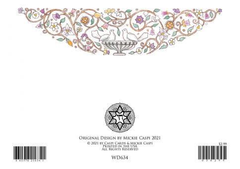 WD634 Wedding Doves Greeting Card by Mickie Caspi